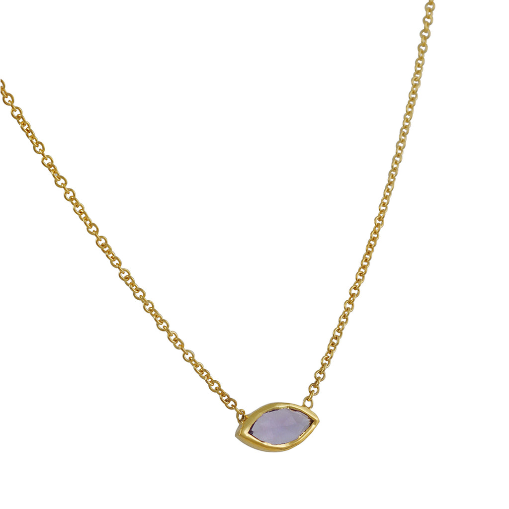 KATIE DIAMOND - Grace Choker Necklace in Vermeil with Amethyst
