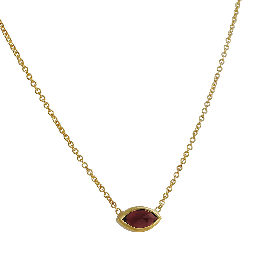 KATIE DIAMOND - Grace Choker Necklace in Vermeil with Garnet