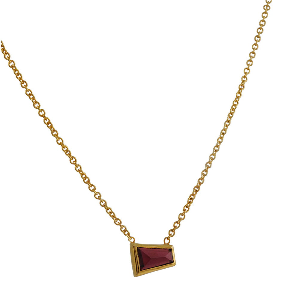 Katie Diamond  - Choker Necklace with Garnet