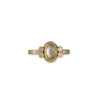 ANANDA KHALSA- Yellow Sapphire with Diamond Trios Engagement Ring