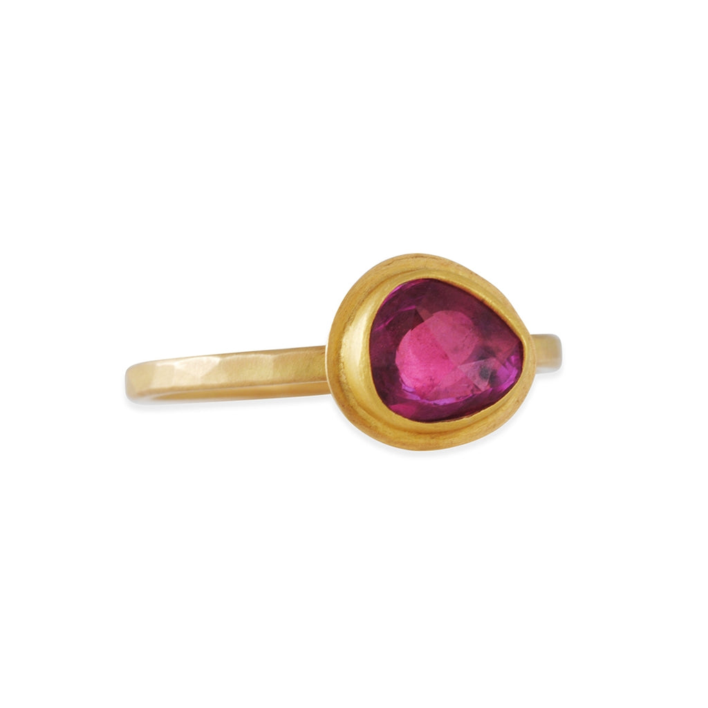 SALE  - Rosecut Pink Sapphire Ring