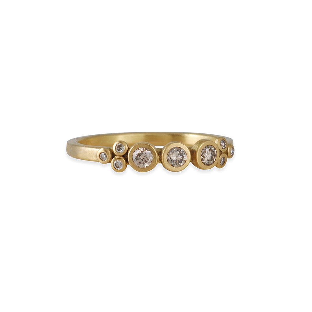 Ananda Khalsa - Three Champagne Diamond Bezel Ring