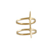 K/LLER - Double Banded Spike Ring