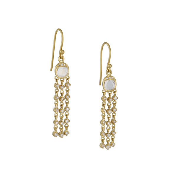 Kothari - Grecian Dangle Diamond Earrings