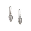 KOTHARI - Hammered Droplet Earrings in Sterling Silver