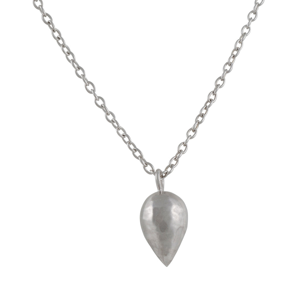 KOTHARI - Inverted Raindrop Necklace in Sterling Silver