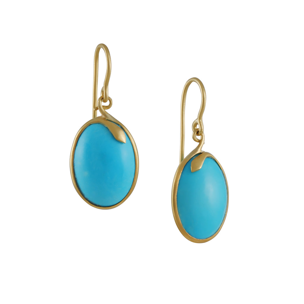Kothari - Serpent Framed Turquoise Earrings