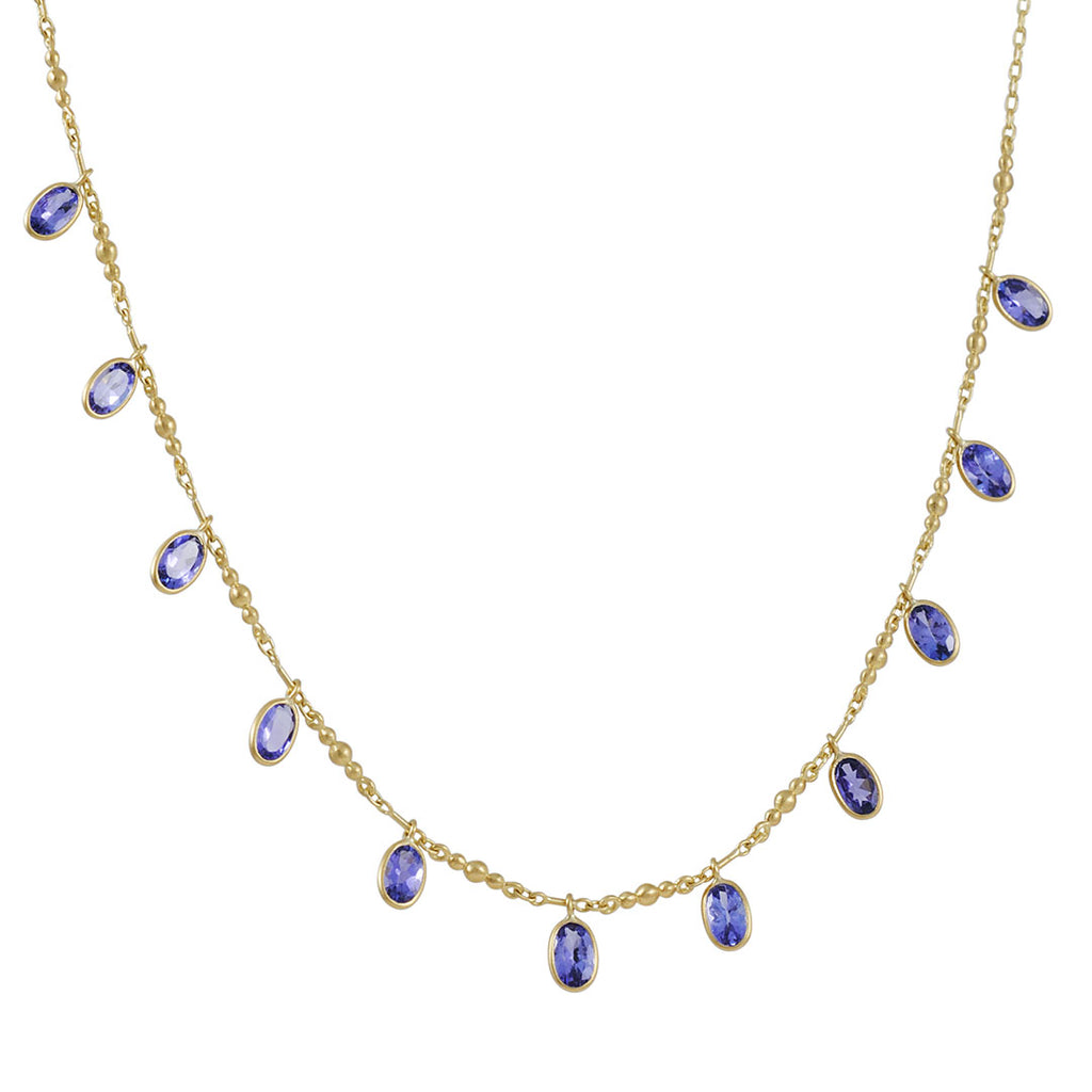 Kothari - Tanzanite Fringe Necklace
