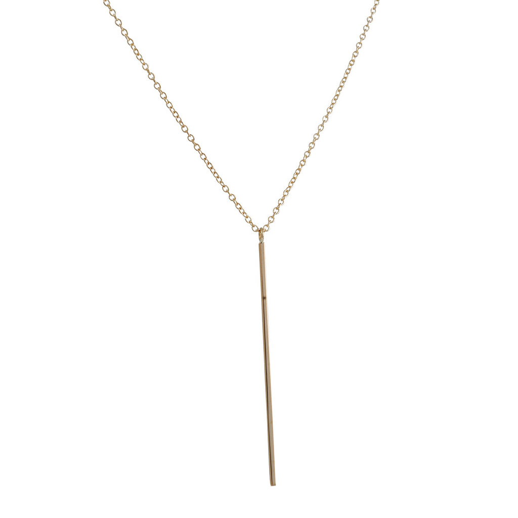 KRISTEN ELSPETH - Small Bar Necklace in 14k