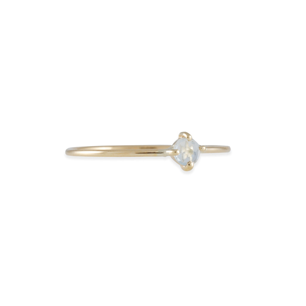 KRISTEN ELSPETH - Small Neptune Aquamarine Ring in 14k - Size 6