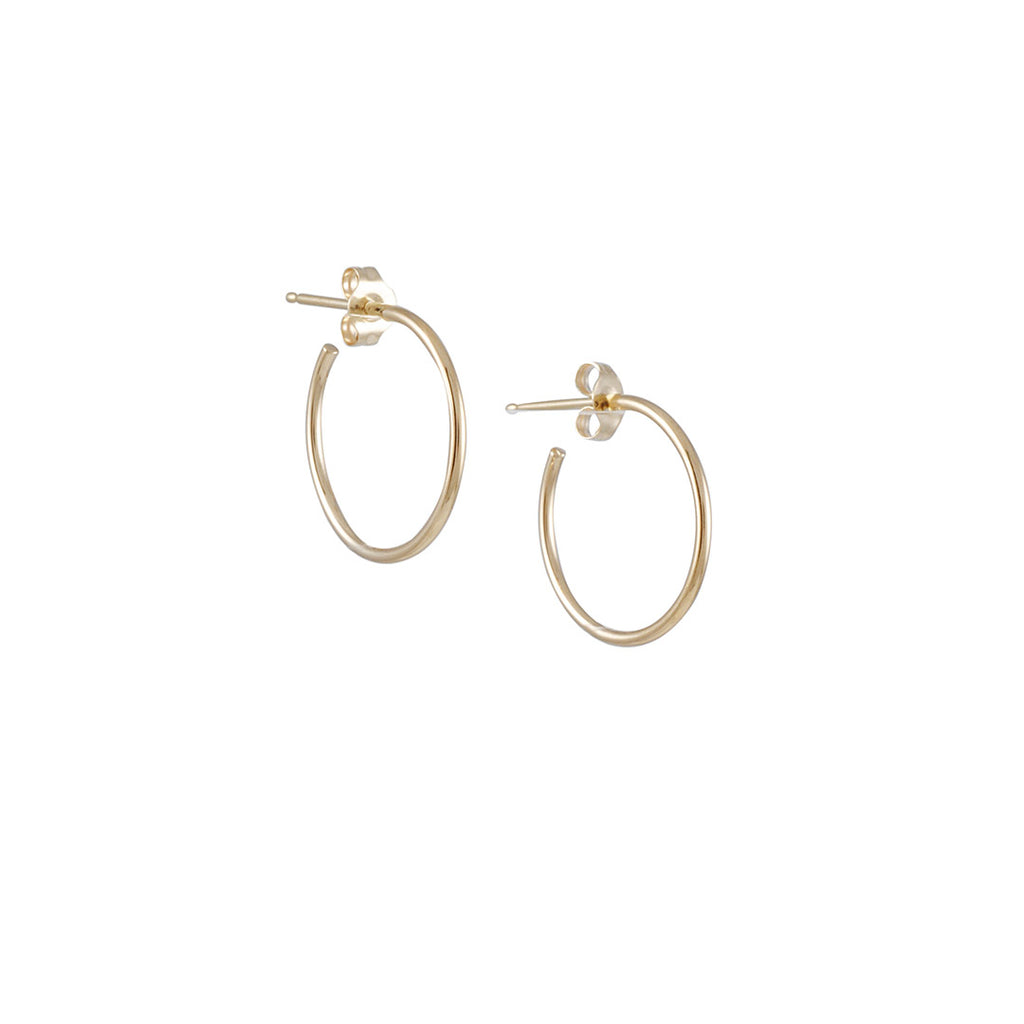 KRISTEN ELSPETH - Small Thread Arc Hoops