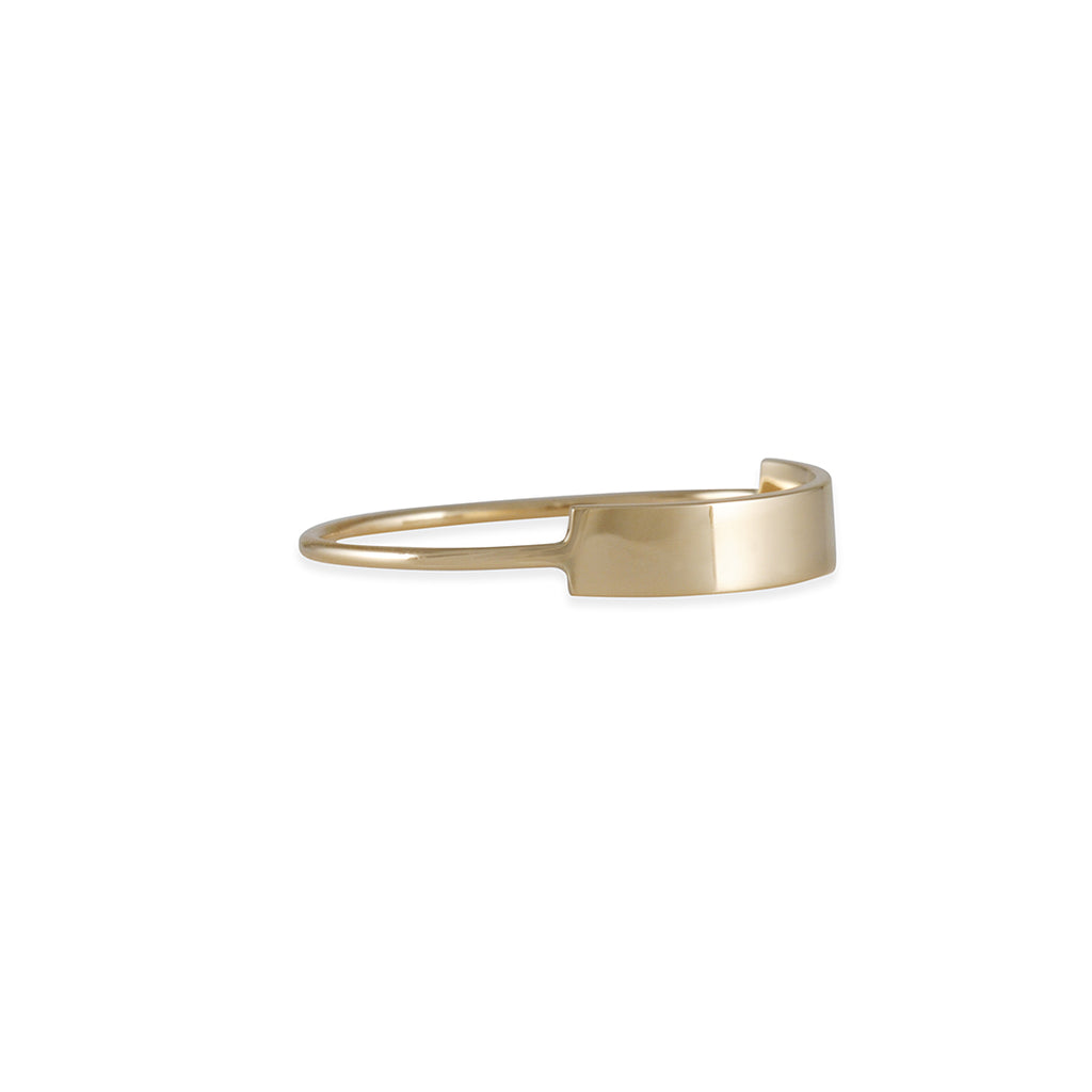 KRISTEN ELSPETH - Long Blade Ring in 14k Gold, Size 6