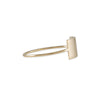 KRISTEN ELSPETH - Shield Ring in 14k Yellow Gold - Size 6