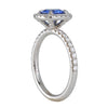 RICHARD LANDI- Micro Pave Halo Setting with Blue Sapphire
