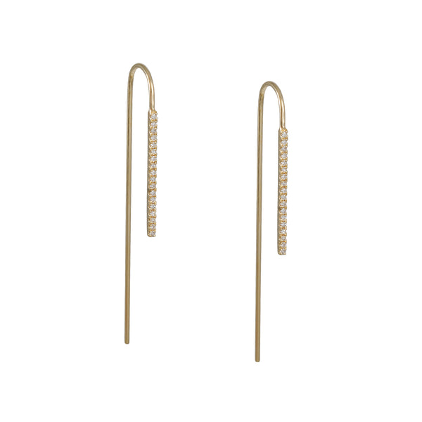 Liven - Wire Threader Diamond Earrings