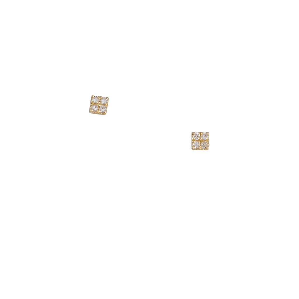 Liven Co. - Mini Pave Square Studs