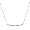 LIVEN CO. - Long Pave Bar Necklace in 14ky
