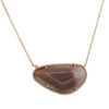 LIVEN CO. - One of a Kind Agate Necklace in Rose Gold
