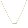 LIVEN CO. - Small Baguette Diamond Pendant Necklace in 14K Gold