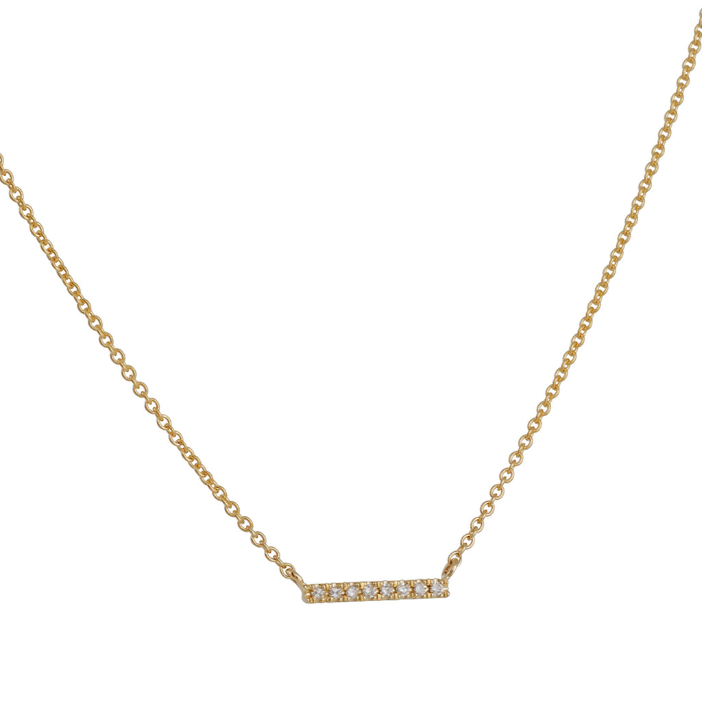 Liven Co. - X-Small Pave Bar Necklace