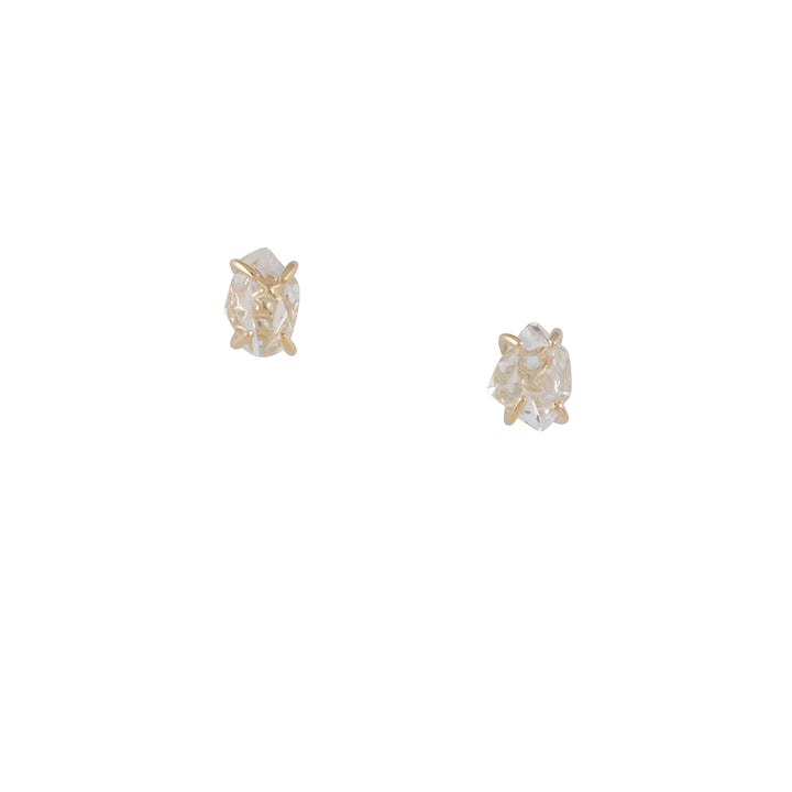 MELISSA JOY MANNING - Herkimer Diamond Stud Earrings in 14k Yellow