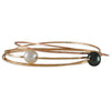 Melissa Joy Manning - White Flame Pearl Bangle