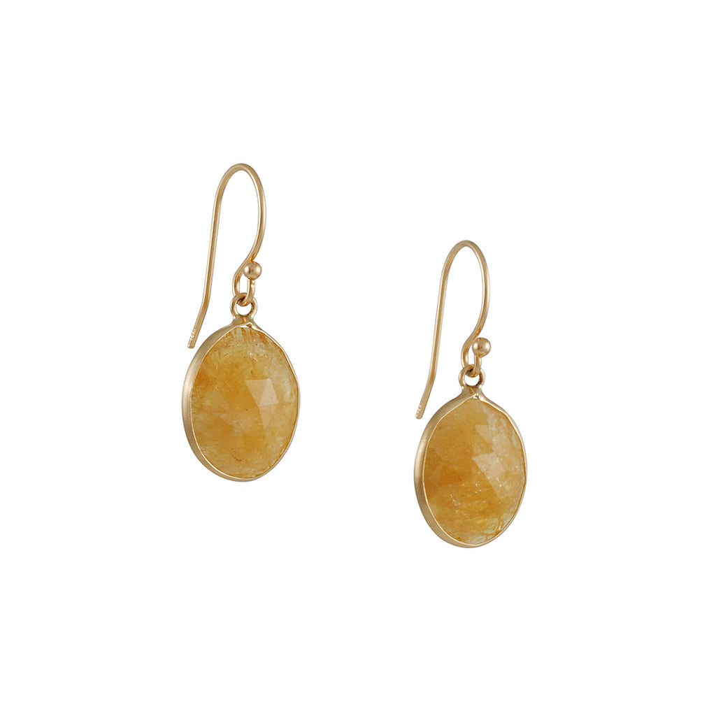 Margaret Solow - Raw Yellow Sapphire Earrings