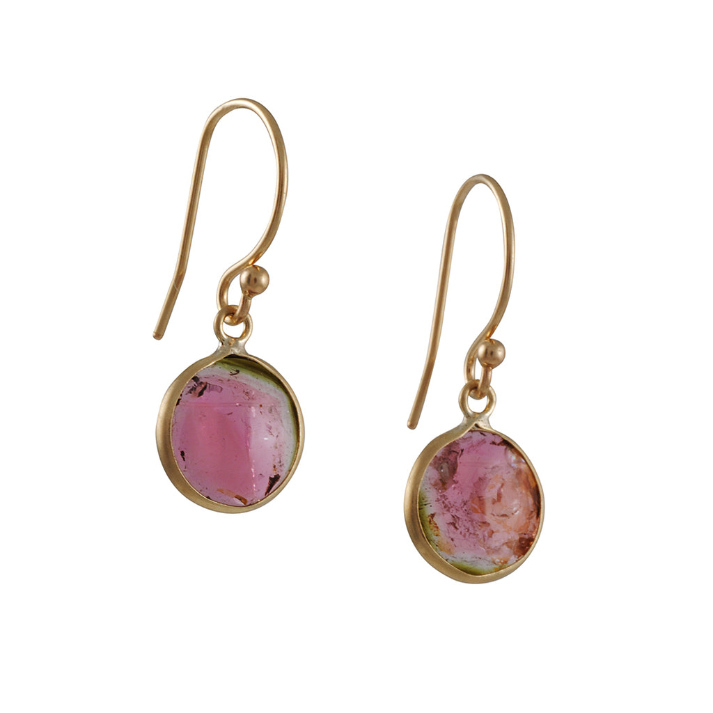Margaret Solow - Watermelon Tourmaline Earrings