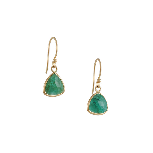 Margaret Solow - Emerald Triangle Earrings