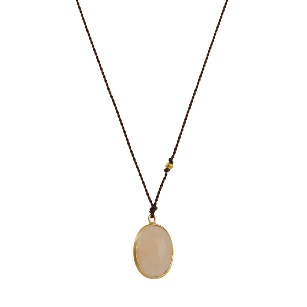 Margaret Solow - Peach Moonstone Necklace