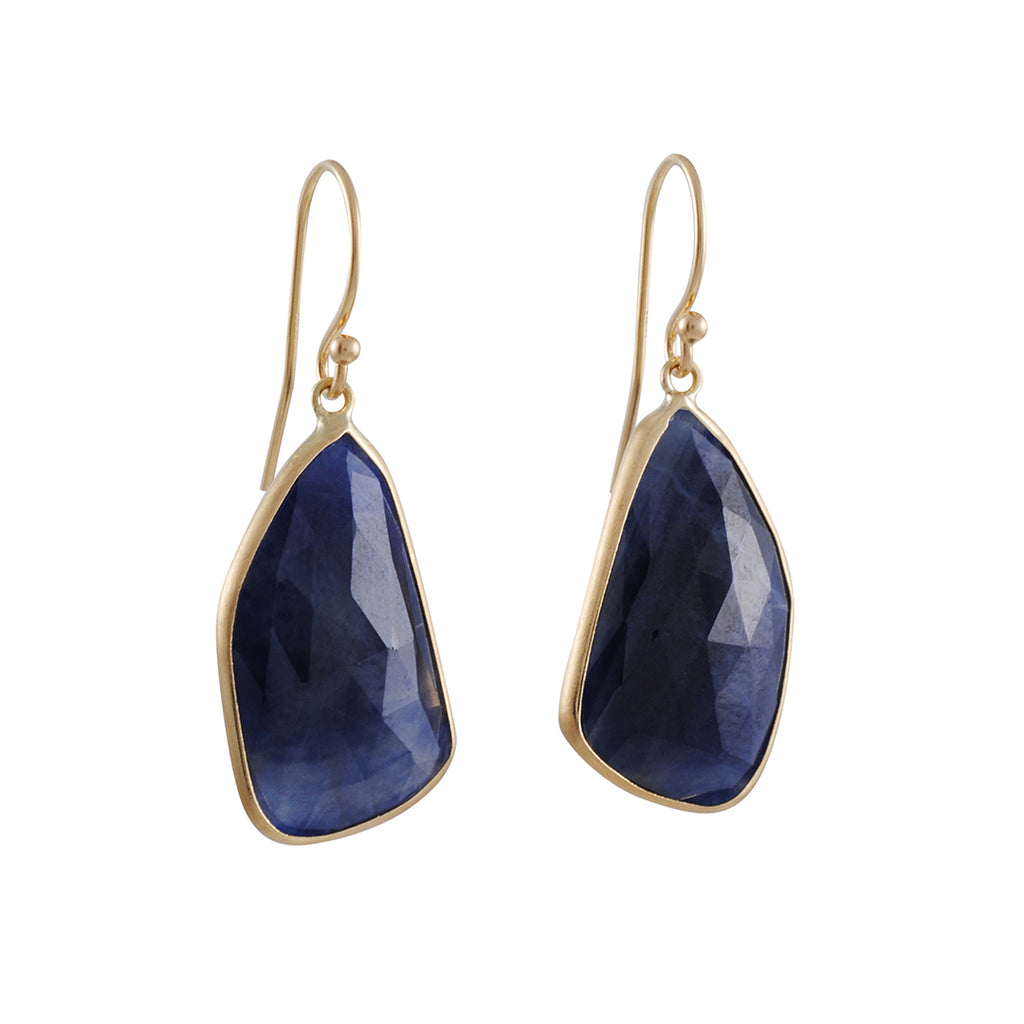 MARGARET SOLOW - Large Freeform Sapphire Earrings
