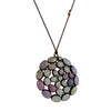 MARGARET SOLOW - Large Oval Pastel Sapphire Mandala Necklace, 18""