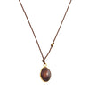 MARGARET SOLOW - Maroon Opal Bezel Necklace