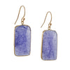 MARGARET SOLOW - Square Tanzanite Earrings
