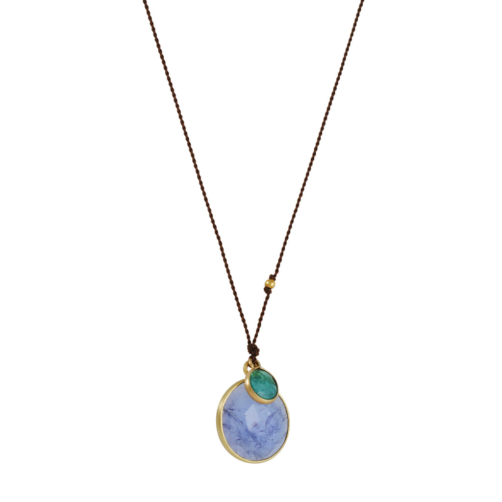 Margaret Solow - Tanzanite and Emerald Necklace