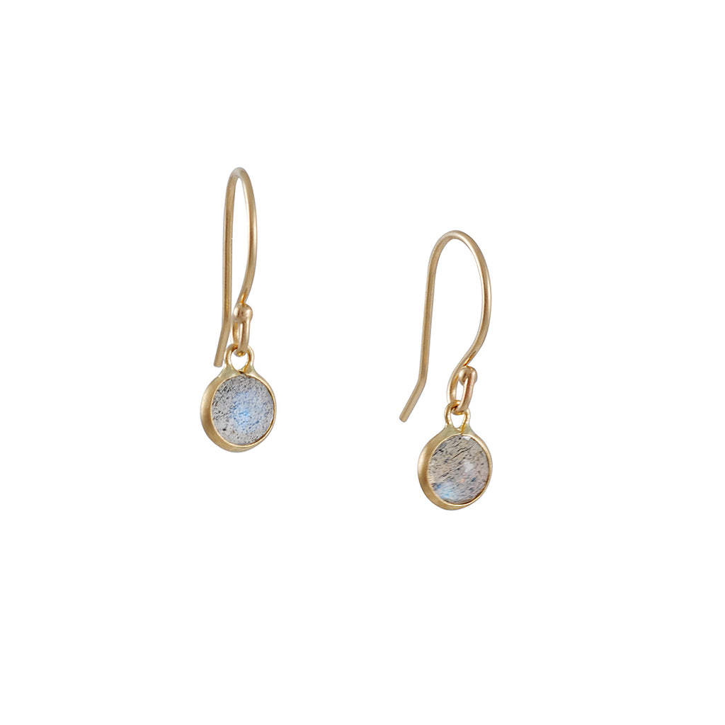 MARGARET SOLOW - XSmall Round Labradorite Earrings
