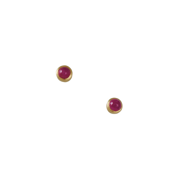Marian Maurer - Ruby Cabachon Earrings