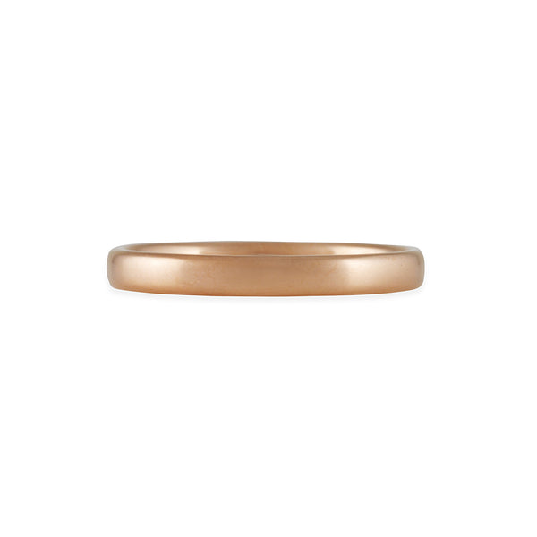 MARIAN MAURER- 3 MM Rounded Edge Band in 18K Rose Gold