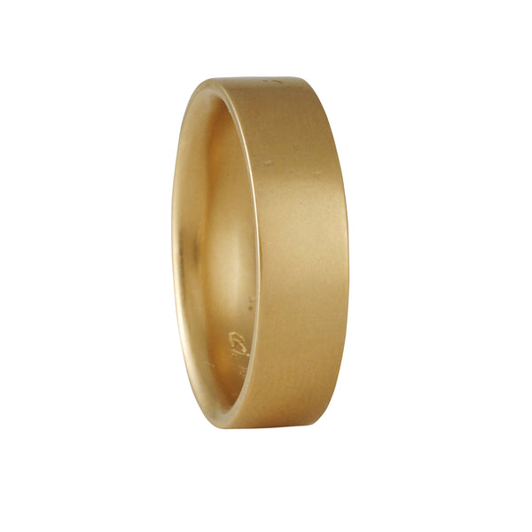 MARIAN MAURER- 6.1mm Inside Out Band in Yellow Gold