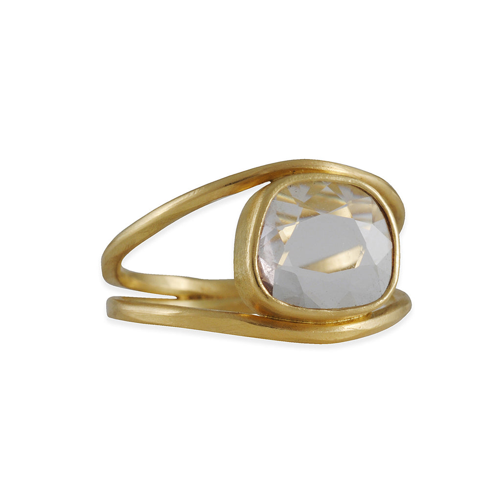 SARAH MCGUIRE- Double Band White Sapphire Ring