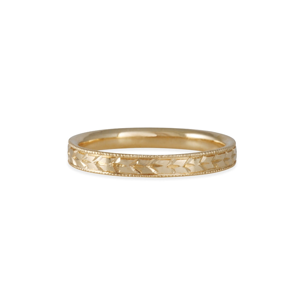 LORI MCLEAN - 3mm Engraved Laurel Band
