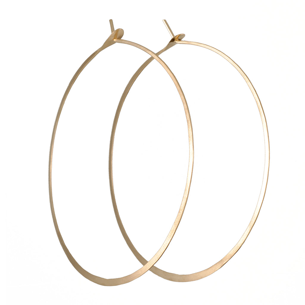 Melissa Joy Manning - Hammered and Forged Hoops