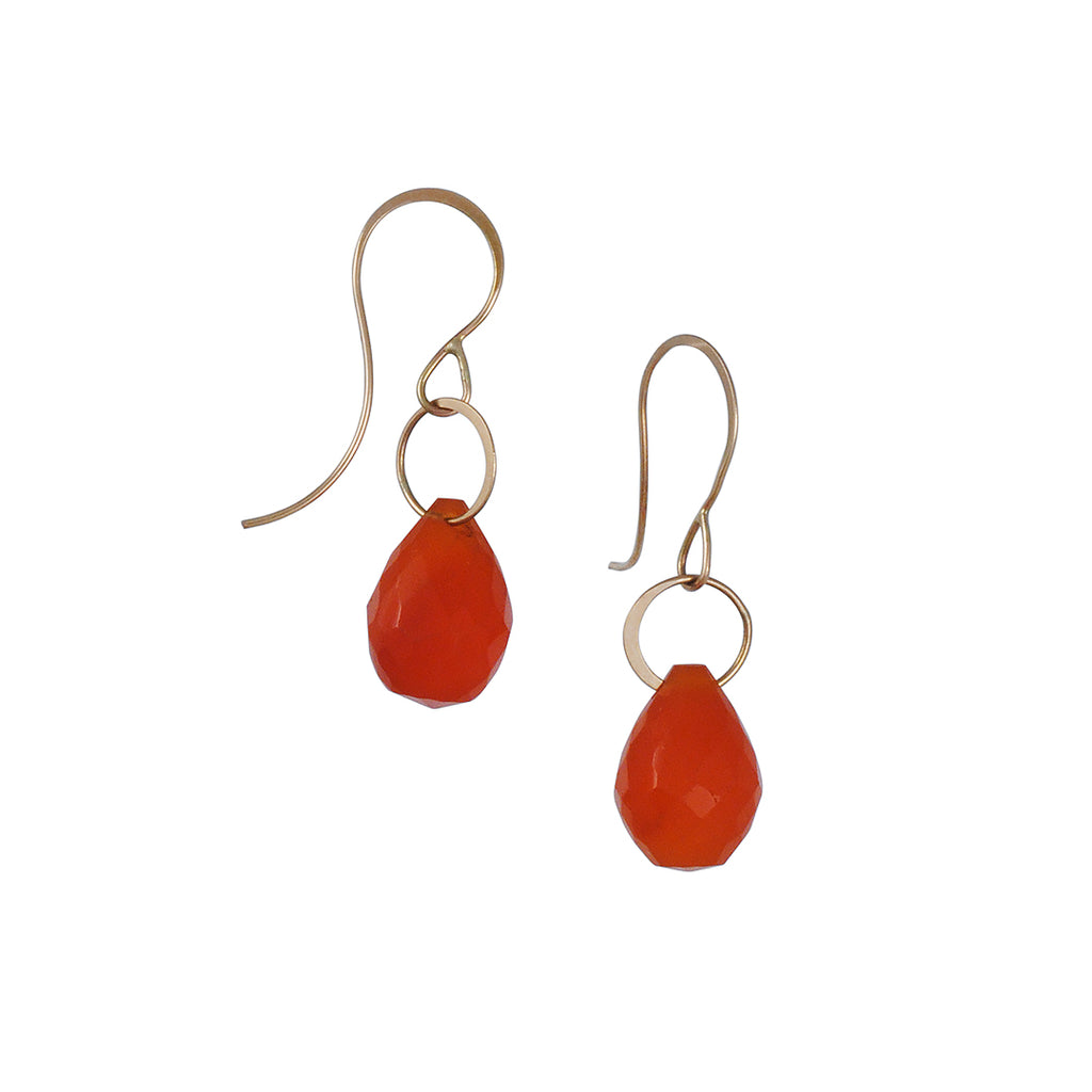 MELISSA JOY MANNING - Carnelian Single Drop Earring
