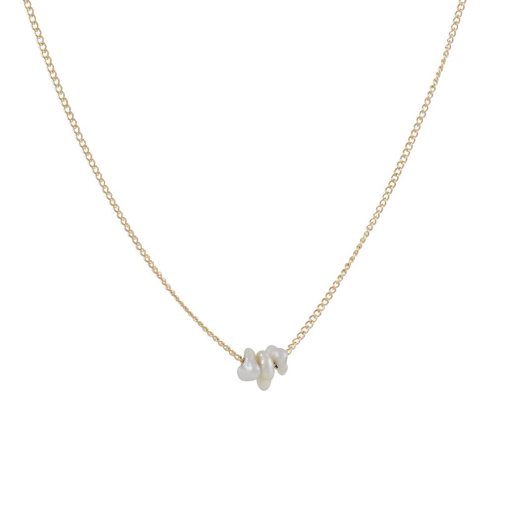 MELISSA JOY MANNING - Freeform Cultured Pearl Trio Necklace