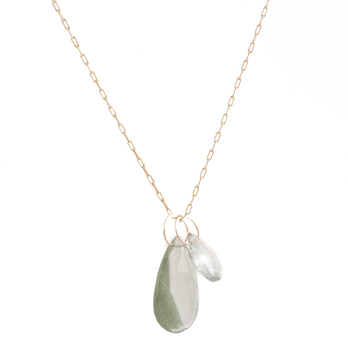 Melissa Joy Manning - Green Rutilated Quartz Necklace