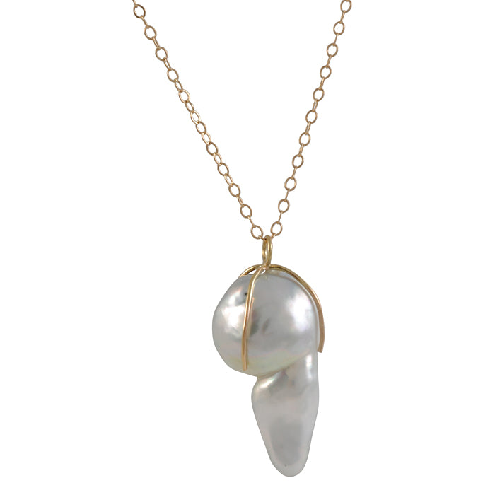 MELISSA JOY MANNING- Large Tahitian Pearl Necklace