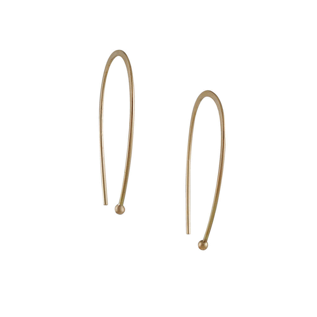 MELISSA JOY MANNING - Open Oval Hoop Earrings