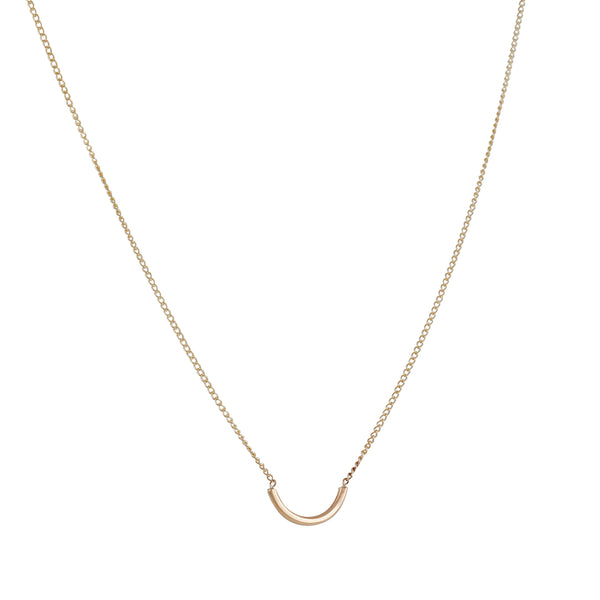 Melissa Joy Manning - Semi Circle Gold Necklace