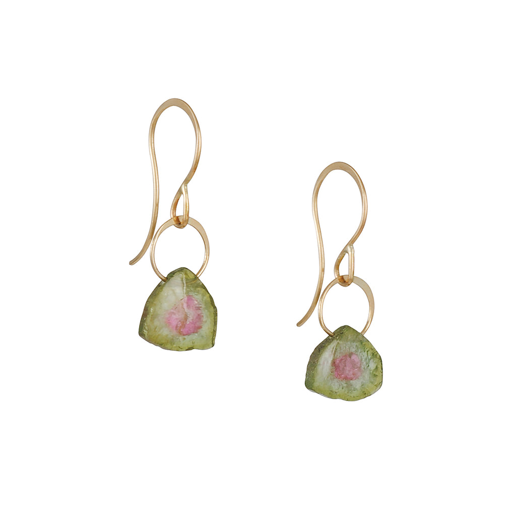 MELISSA JOY MANNING - Watermelon Tourmaline Drop Earrings