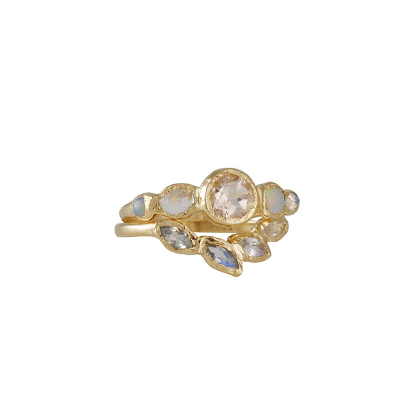 Misa Jewelry - Petal Moonstone Ring